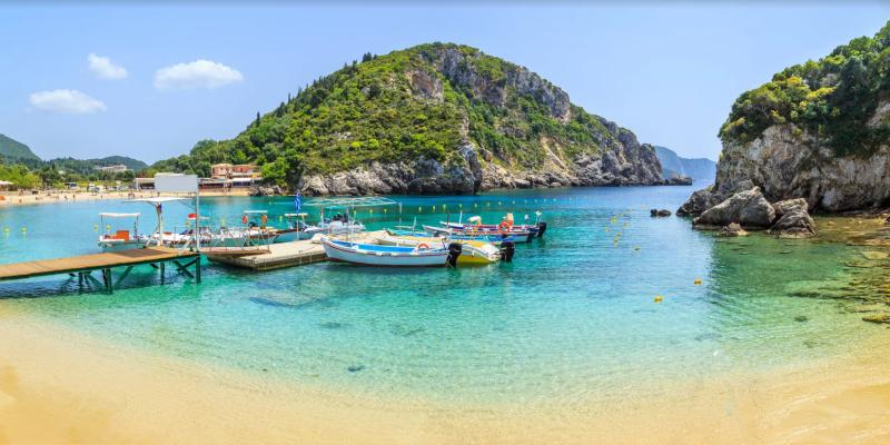 Blaues Korfu
