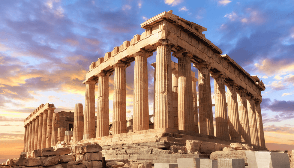 Parthenon in Akropolis Athen